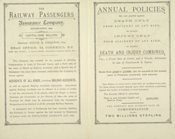 Advert for the Railway Passengers Assurance Company, reverse side 7513